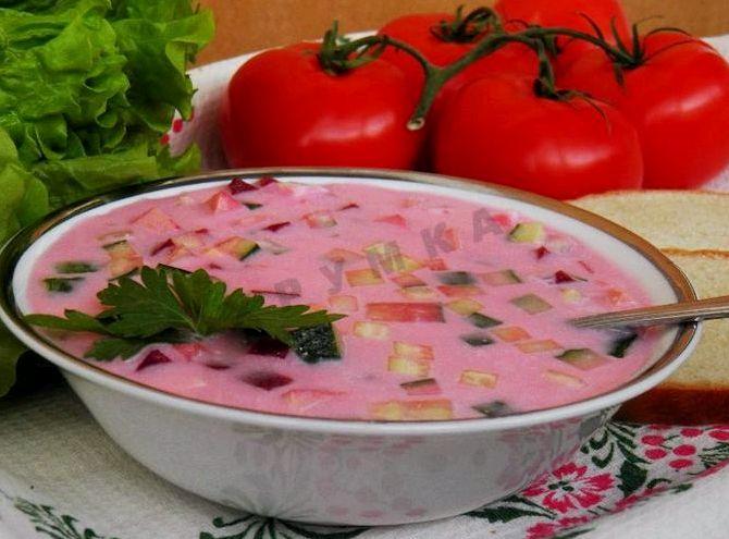 Борщ холодный рецепт с фото из маринованной свеклы