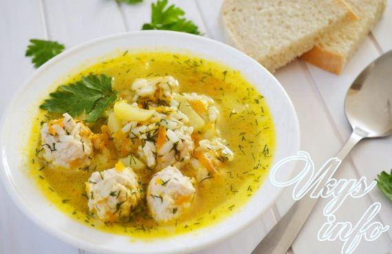 Детский суп с фрикадельками рецепт с фото