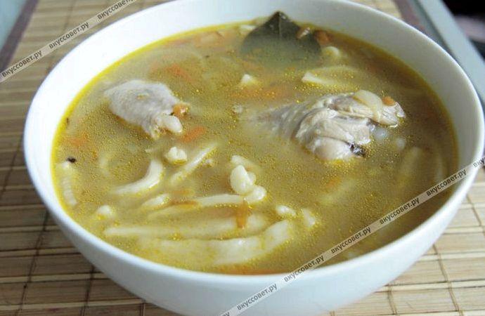 Суп лапша домашняя пошаговый рецепт