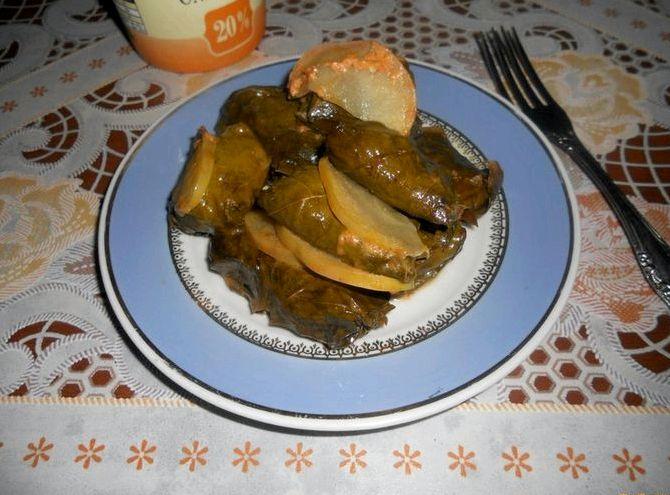 Голубцы из листьев винограда пошаговый рецепт с фото