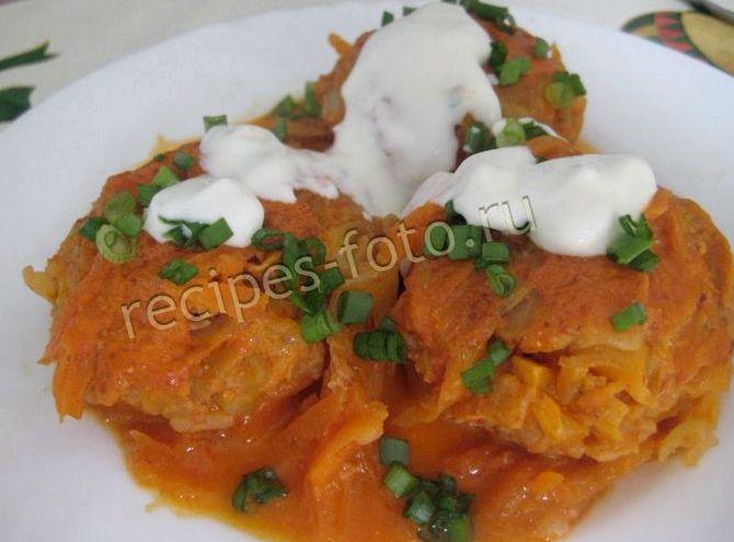 Голубцы рецепт с рисом и фаршем на сковороде