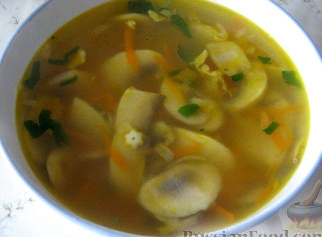 Грибной суп с картофелем рецепт с фото