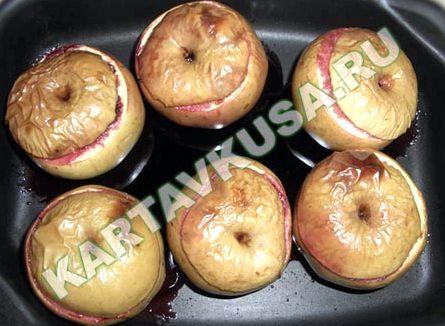Яблоки печеные в духовке рецепт пошагово с фото