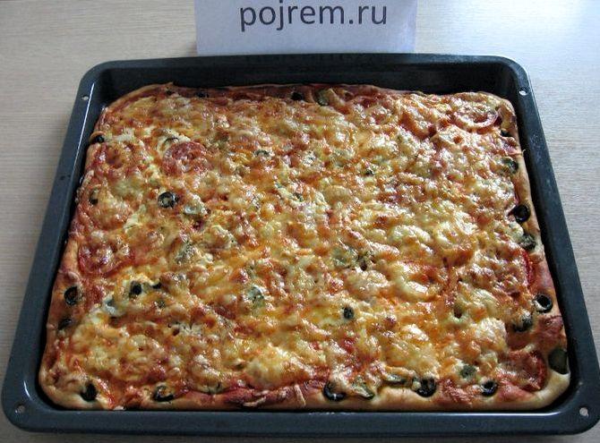 Пицца в домашних условиях рецепт пошагово с фото в