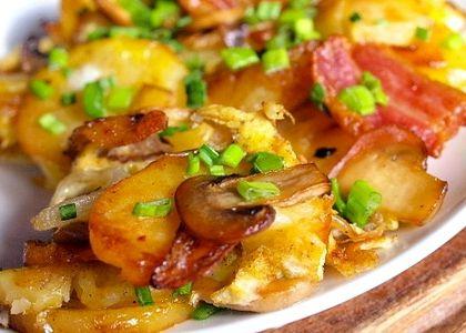 Как вкусно пожарить картошку с грибами на сковороде рецепт с фото
