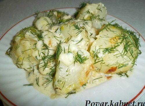 Картофель запеченный в сметане с фото