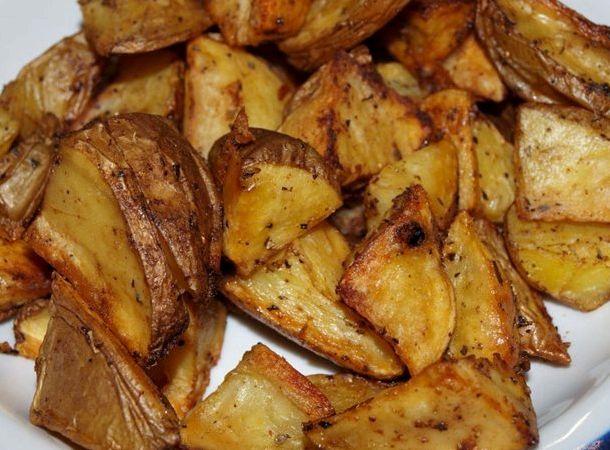 Картофель по деревенски в микроволновке рецепт с фото