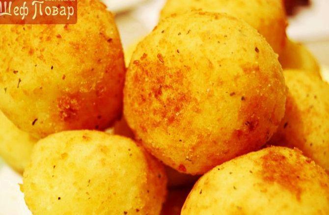 Сырно картофельные шарики рецепт пошагово