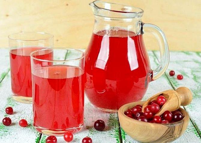Клюквенный морс для детей рецепт из замороженных ягод