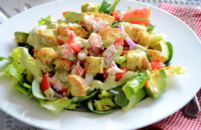 крабовый салат с огурцом рецепт