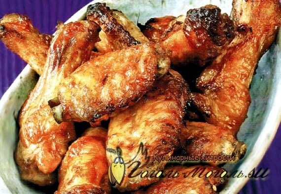 Куриные крылья жареные на сковороде рецепт
