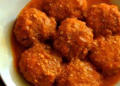 тефтели с рисом в томатном соусе пошаговый рецепт