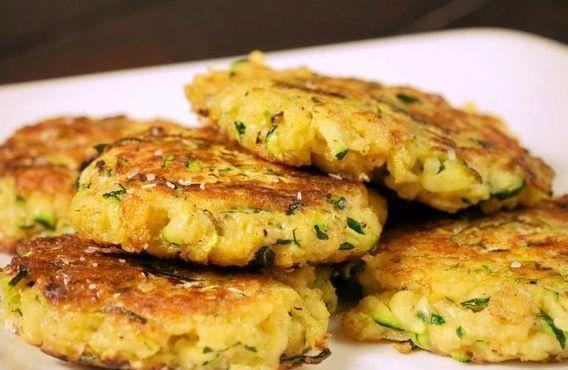 Оладьи из кабачков с сыром рецепт пышные