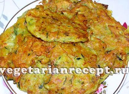 Оладушки из кабачков и картофеля рецепт