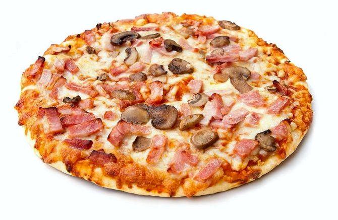 Пицца рецепт с грибами и колбасой рецепт с фото