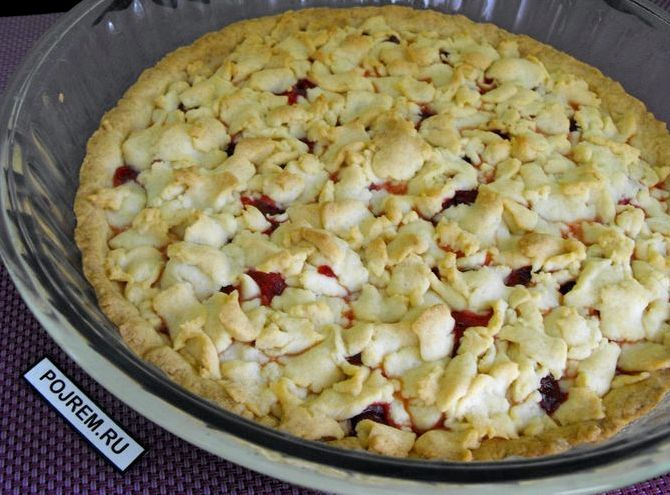 Пирог из песочного теста с ягодами рецепт с фото