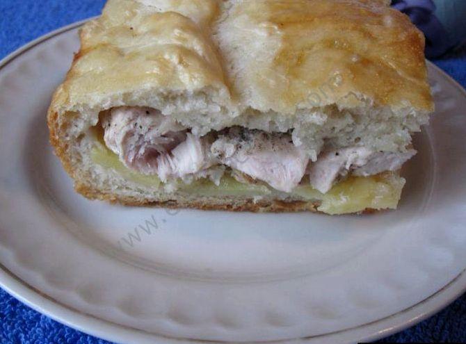 Пирог с курицей и картофелем в духовке рецепт