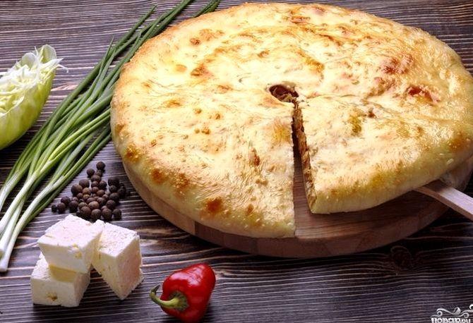 Пирог с курицей и с сыром рецепт с фото