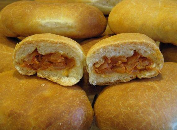 Пирожки в духовке на кефире с дрожжами рецепт с фото