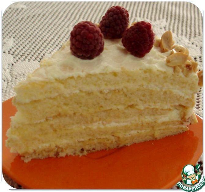 Торт молочная девочка с фруктами рецепт пошагово в домашних условиях