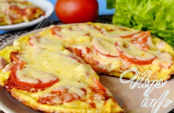 Рецепт быстрой пиццы за 10 минут на сковороде