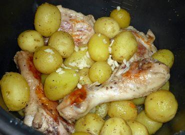 Рецепт картошки с курицей в мультиварке