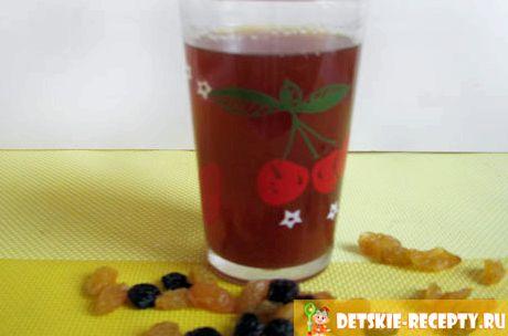 Рецепт компот из чернослива изюма и кураги