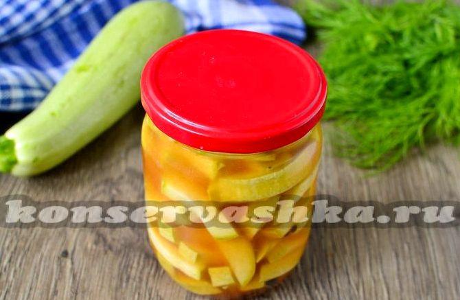 Рецепт консервирования кабачков с кетчупом чили