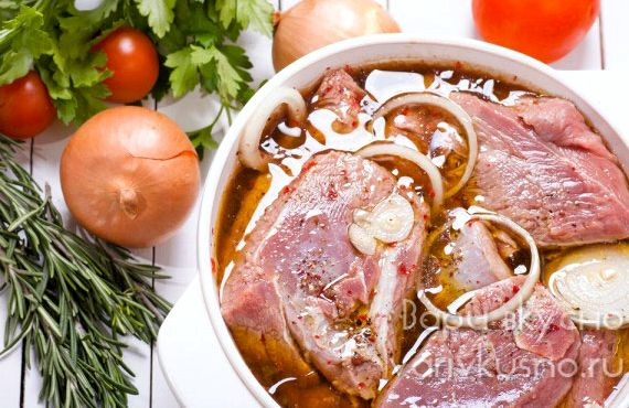 Рецепт маринада для шашлыка из свинины с уксусом и луком