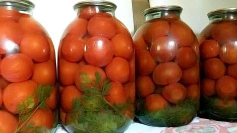 Рецепт маринованные помидоры с морковной ботвой