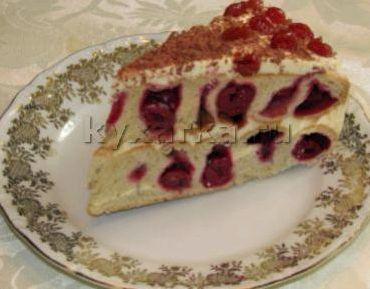 Рецепт пирог сметанный с вишней фото рецепт