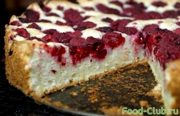 Рецепт пирога в мультиварке с малиной