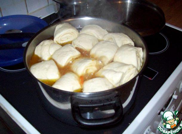 Рецепт штрудель с мясом и картошкой с пошаговый рецепт