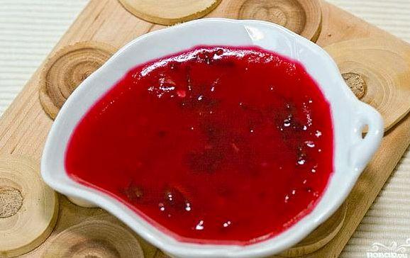 Рецепт соус к мясу из красной смородины