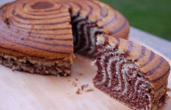 Рецепт зебра торта в домашних условиях с фото