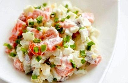 Рыбный салат из отварной рыбы с картошкой рецепт