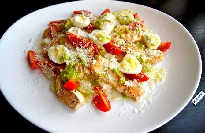 Салат из куриной грудки рецепт простой