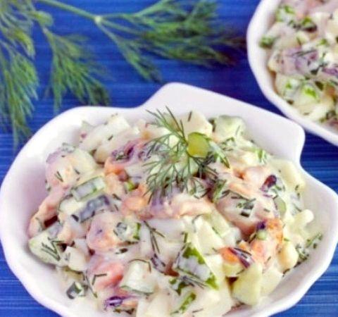 салат из морепродуктов морской коктейль рецепты с фото пошагово