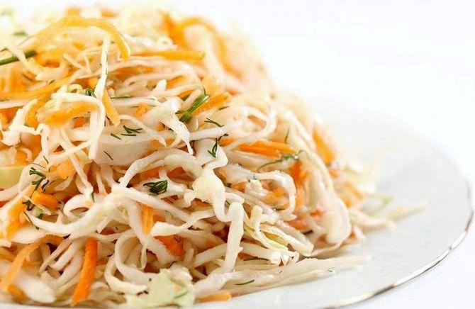 Салат из свежей капусты рецепт очень вкусный калорийность