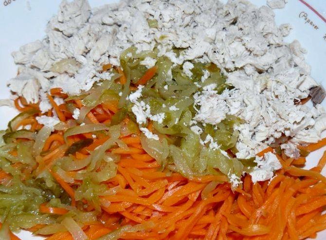 салат обжорка с грибами классический рецепт с фото