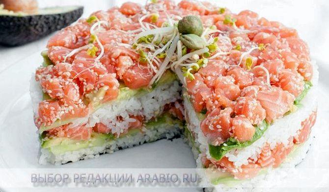 салат слоями с семгой рецепт с фото очень вкусный