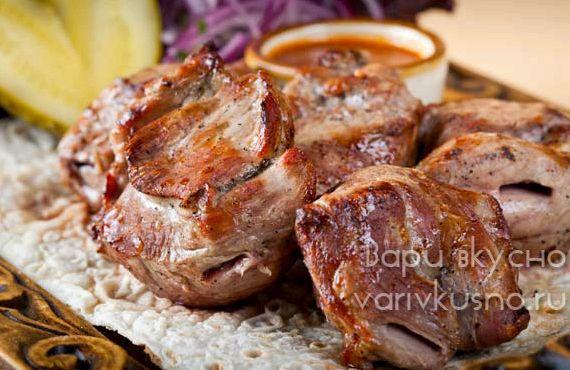 Шашлык с уксусом и луком из баранины рецепт