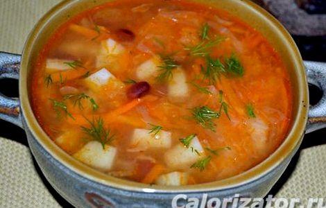 Щи с фасолью консервированной рецепт пошаговый с фото