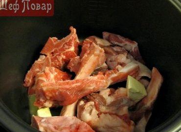 Свиное рагу на косточке рецепт в мультиварке