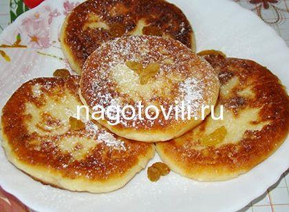 Сырники с творожной массы с изюмом рецепт с фото пошагово