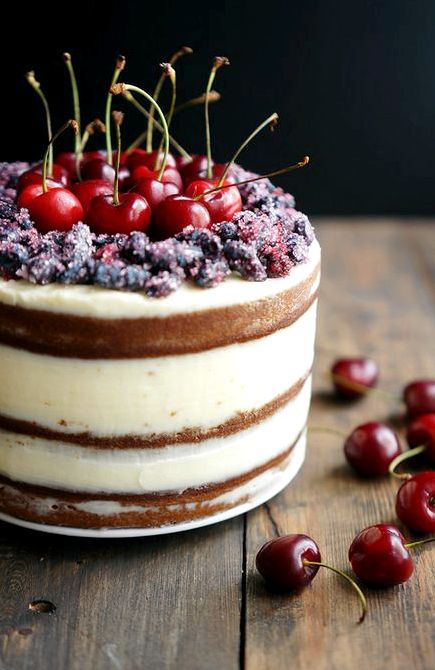 Торт с ягодами наверху рецепт