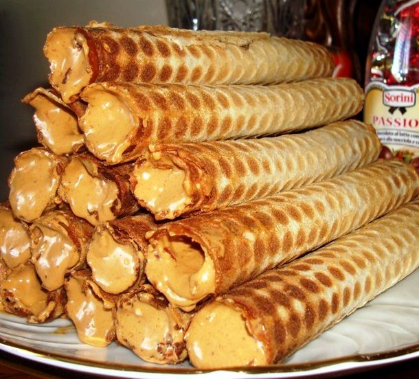 Трубочки в вафельнице рецепт с фото пошагово
