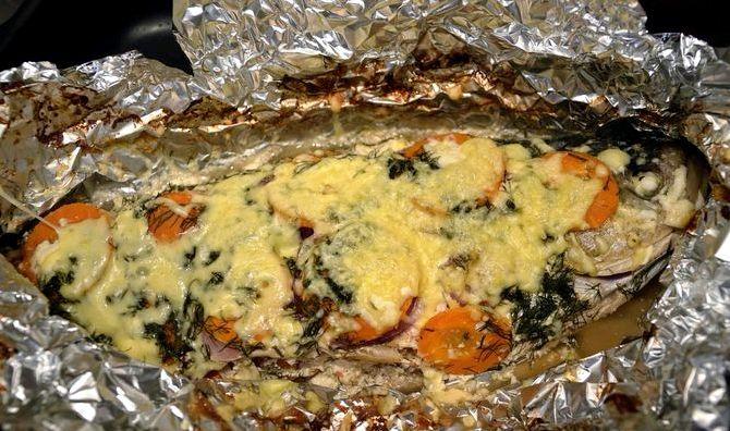 Запечённый толстолобик в духовке рецепт с фото