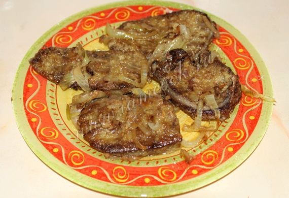 пожарить печень говяжью с луком рецепт с фото пошагово