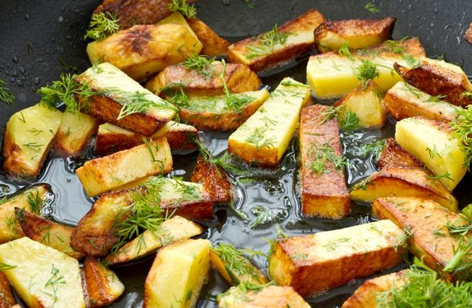 Жареная картошка рецепт на сковороде
